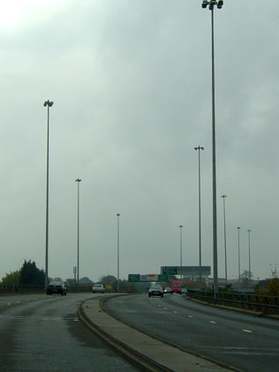 Coventry Ring Road with high mast lighting