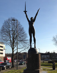 The statue 'La Délivrance' on Charter Way. Click to enlarge