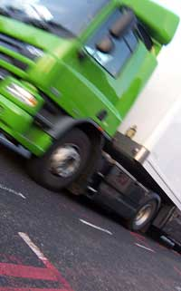 A blurry lorry