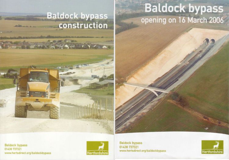 Booklets published to mark the construction and opening of the Baldock Bypass