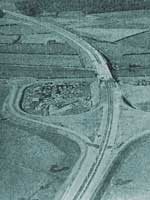 Samlesbury Interchange from the air. Click to enlarge