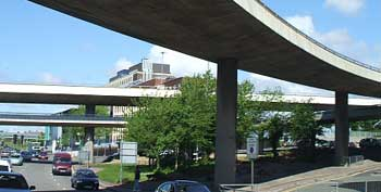 The two Churchill Way flyovers in central Liverpool