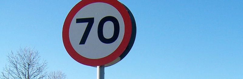 A specially-signposted 70 limit, usually confined to non-motorway special roads and some Scottish motorways. Click to enlarge