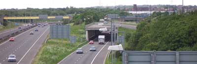 Part of Worsley Braided Interchange at Linnyshaw Moss
