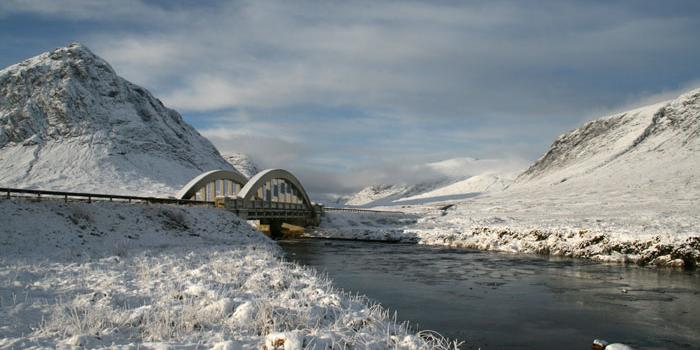 1930s bridge over the Etive. Click to enlarge