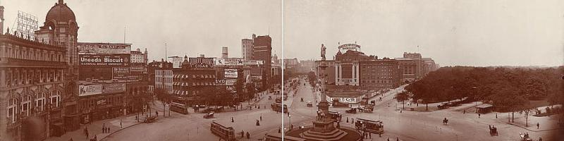 Columbus Circle, New York, in 1907. Click to enlarge