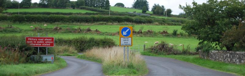 Keep left, dual carriageway. There's no arguing with that. Click to enlarge