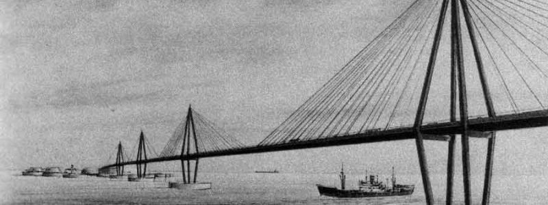 Sketch of one of EuroRoute's bridge structures. Click to enlarge