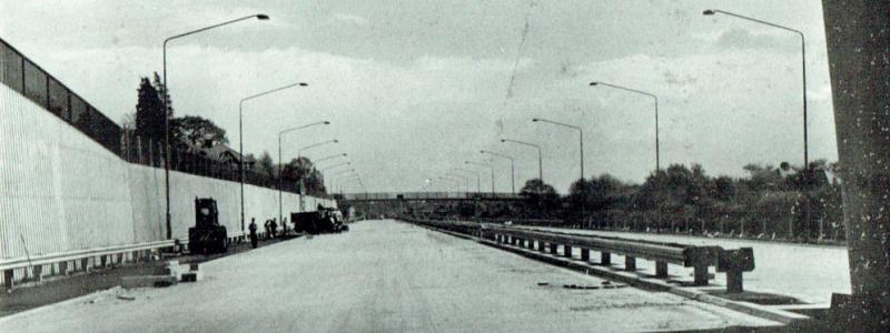 The M1 at Hendon, photographed in 1967, shortly before opening. Click to enlarge