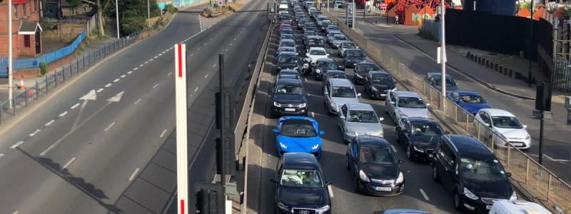 The usual state of affairs on the Blackwall Tunnel Southern Approach. Click to enlarge
