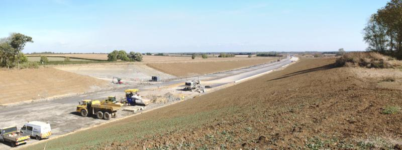 The new A14 under construction near Huntingdon. Not a motorway... yet. Click to enlarge