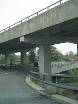 Passing below the Coventry Ring Road