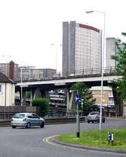 Duppas Hill Roundabout, below the Flyover