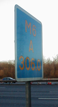 An example of a Driver Location Sign