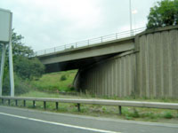 Incomplete sliproad and underpass