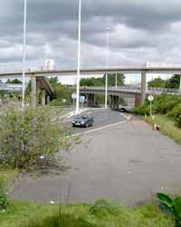 Motorway stub at Townhead Interchange