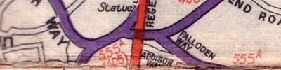 The surrounding Arterial Roads completed, but Charter Way still specially indicated, from a 1946 Daily Mail map. Click to enlarge