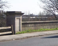 Parapet of the canal bridge, Greenford Road. Click to enlarge