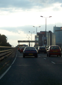 The M4 elevated section near Brentford