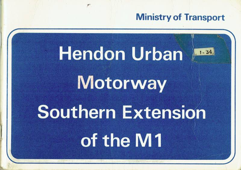 Booklet published to mark the opening of the M1 Hendon Urban Motorway