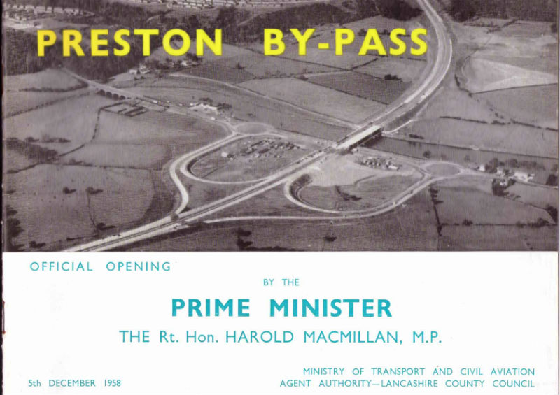 "Booklet published to mark the official opening of the ""Preston By-Pass"""