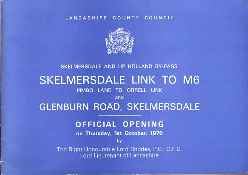Booklet published to mark the official opening of the Skelmersdale Link to M6