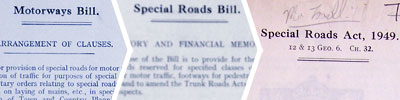 From Motorways Bill to Special Roads Act in three easy steps