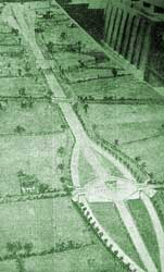 A model of the proposed 1927 London to Brighton Motorway. Click to enlarge
