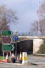 The A41 underpass at Birkenhead
