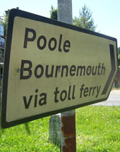 Poole and Bournemouth via toll ferry