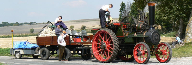 Red flag at the ready: steam traction engines like this were limited to 4mph in 1865. Click to enlarge