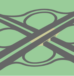 Completely loopy: a cloverleaf interchange