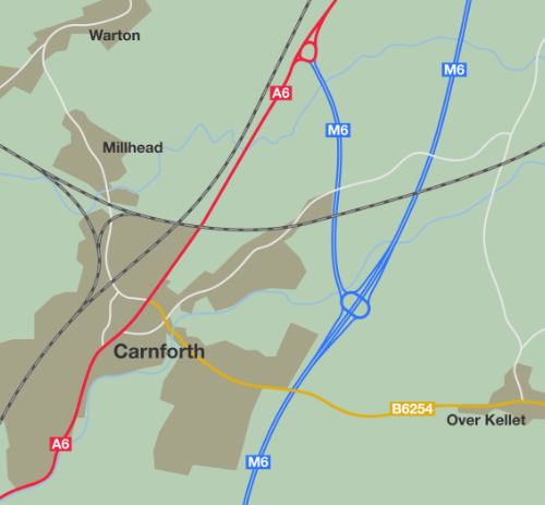 With the M6 extended to Penrith, a short spur is formed - the future A601(M).