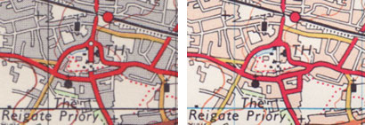 Reigate's tunnel in 1970 (left) and 1973 (right)