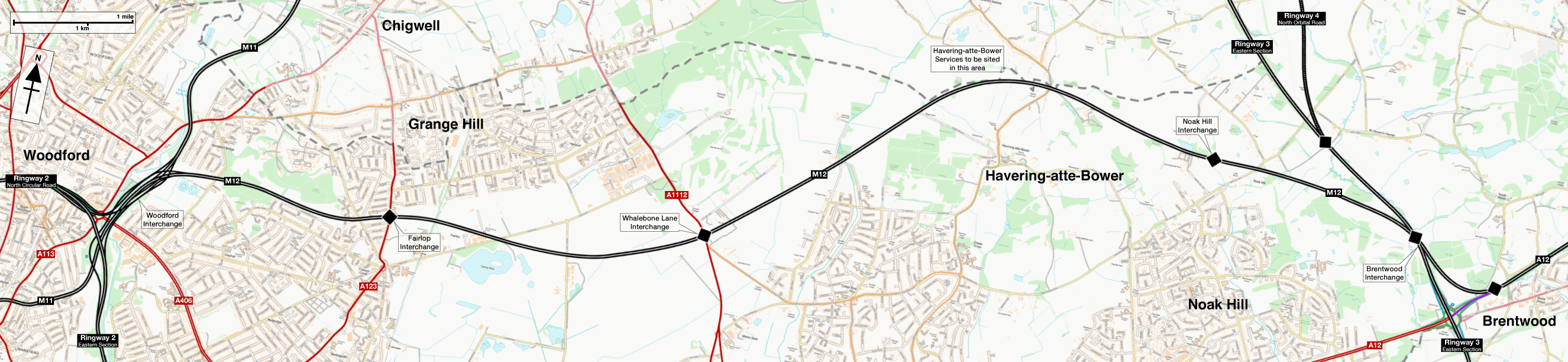 Map of the M12