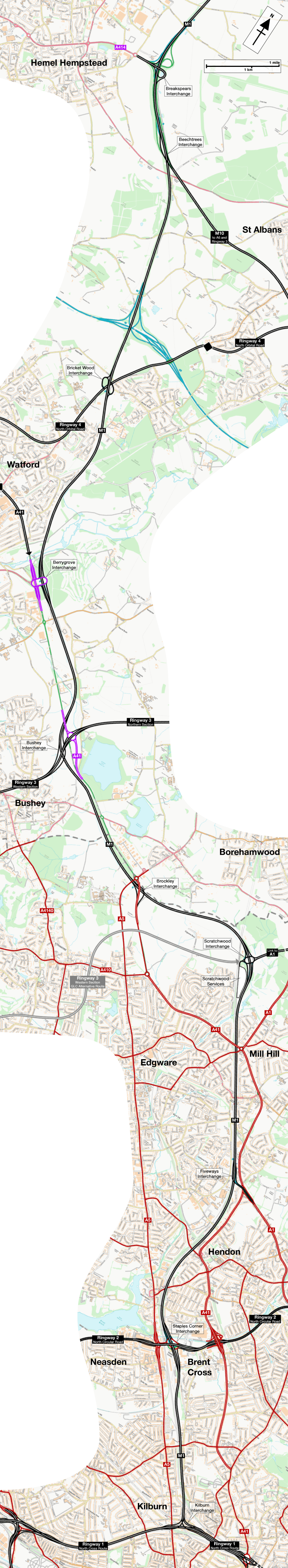 Map of M1