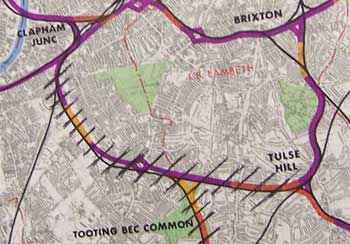 The Balham Loop, removed from the Provisional Urban Motorway Plan
