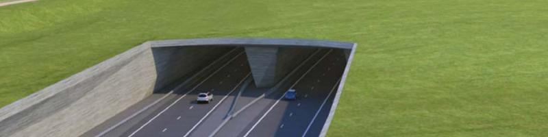 An artist's impression of the A303 Stonehenge Tunnel, due to open in 2028. Click to enlarge