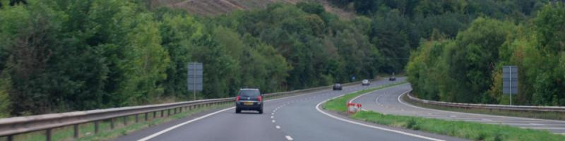 The Brecon Bypass threads its way between imposing hills and the fringes of the town, a rare 70mph dual carriageway with no central barrier. Click to enlarge