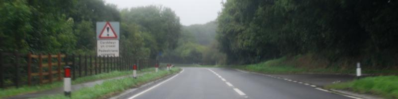 Between Haverfordwest and Fishguard, the Pembrokeshire rain is not conducive to photography. Click to enlarge