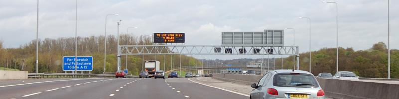 Drive it today: Ringway 3 in real life, better known as the M25 J28-29. Click to enlarge