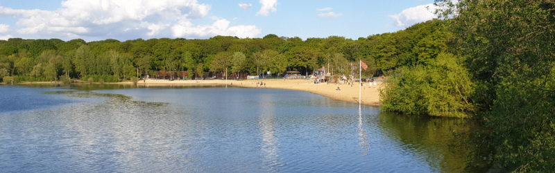 Ruislip Lido, a popular leisure destination, would be bridged by Ringway 3 in more than one plan. Click to enlarge