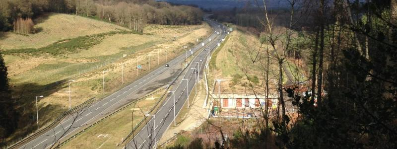 The A3 at Hindhead, just one significant new road that's opened in the last fifteen years. Click to enlarge