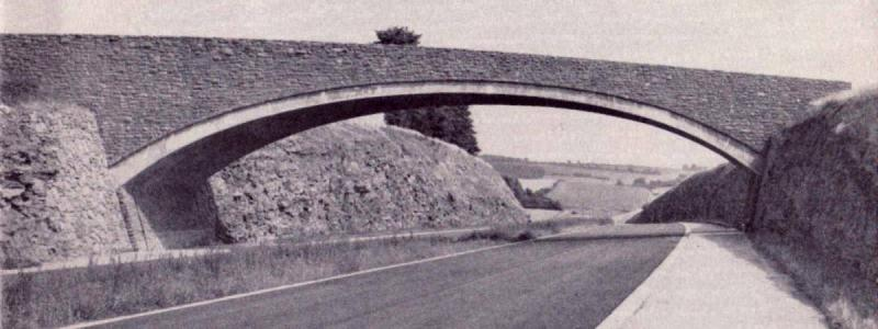Rudhall Bridge across the M50 in Herefordshire, shortly before the motorway opened. Click to enlarge