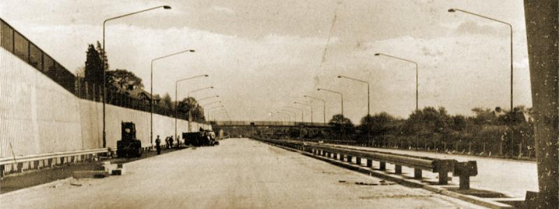 The M1 Hendon Urban Motorway nearing completion in 1967. Click to enlarge