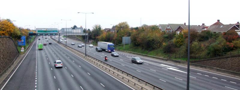 The A282 at Dartford, part of Ringway 3 that would not be the M16. It was widened in the early 1990s when the QEII bridge was built. Click to enlarge