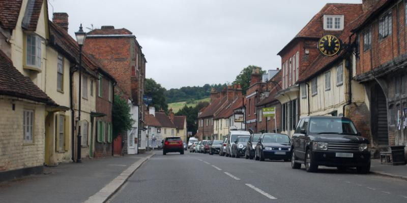 West Wycombe is a picturesque Chiltern village that appears quite unexpectedly after the slog through High Wycombe. Click to enlarge