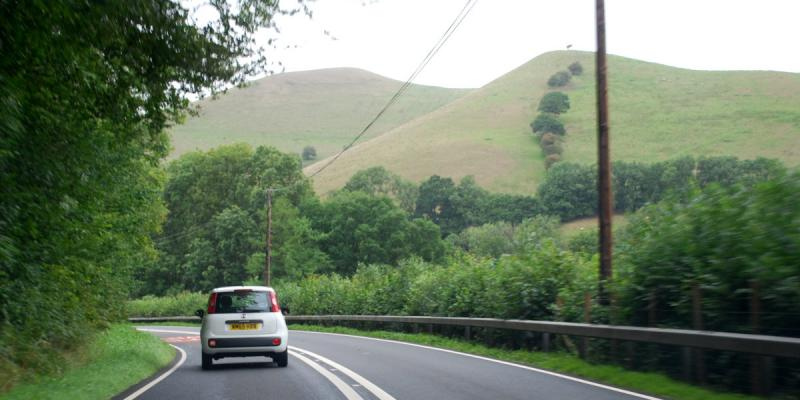Winding through the Brecon Beacons National Park, this length of the A40 is never less than interesting. Click to enlarge