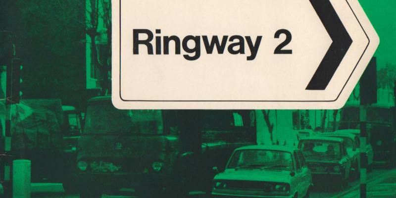 Cover of a 1969 booklet published by the GLC to promote Ringway 2's southern section. Click to enlarge