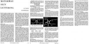 An article by David Kindersley, arguing the case against Anderson signs, published in December 1960. Click to enlarge